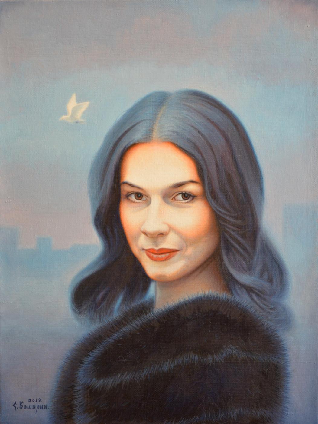 Stepan Vladimirovich Kashirin. Portrait of Vera Saburova.