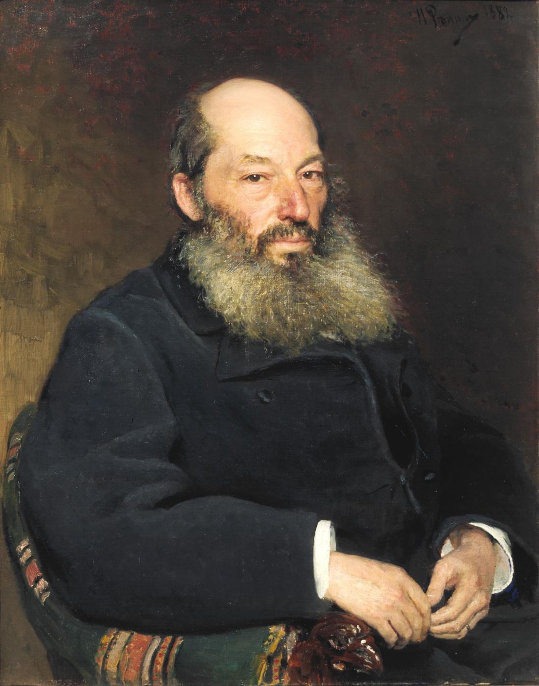 Ilya Efimovich Repin. Portrait of the poet A. A. Feta