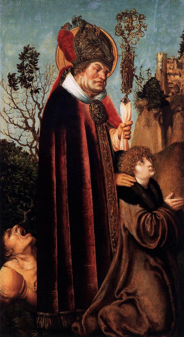 Лукас Кранах Старший. Святой Валентин с жезлом