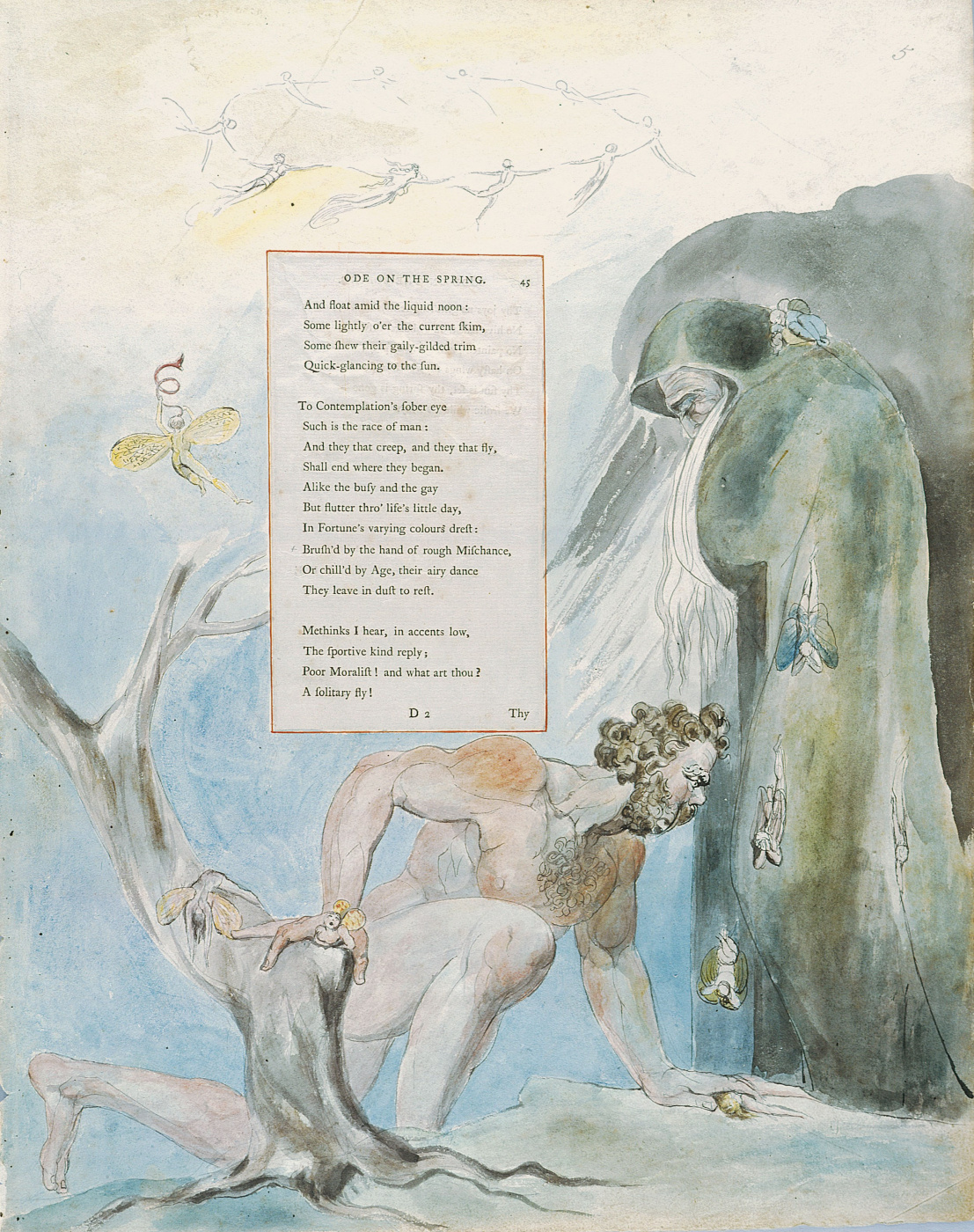 William Blake. Illustrations to the poems. An ode to spring. Sheet 5