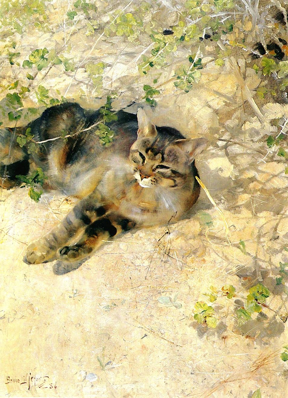 Bruno Liljefors. Wild cat