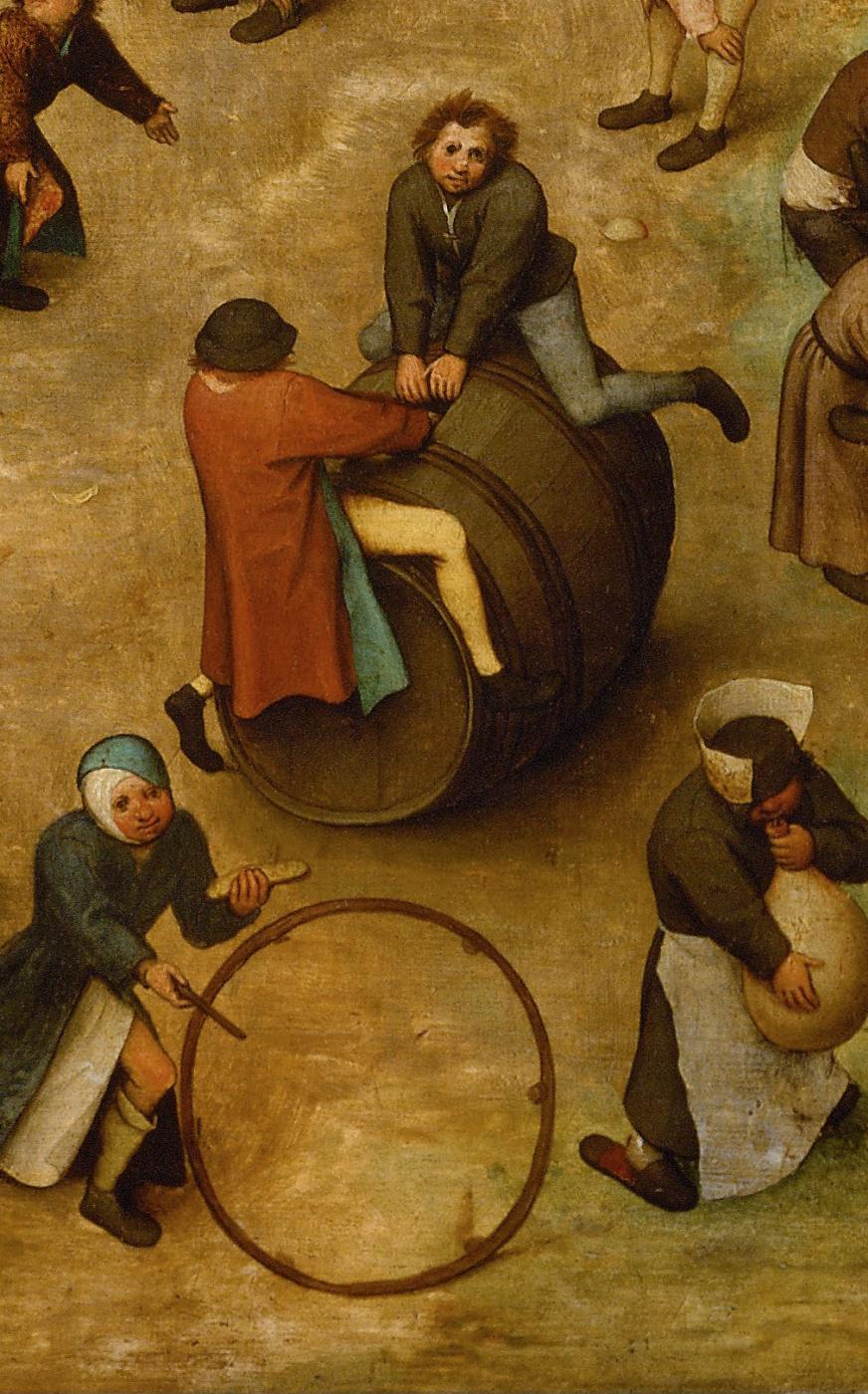 Pieter Bruegel The Elder. Children's games. Fragment 17