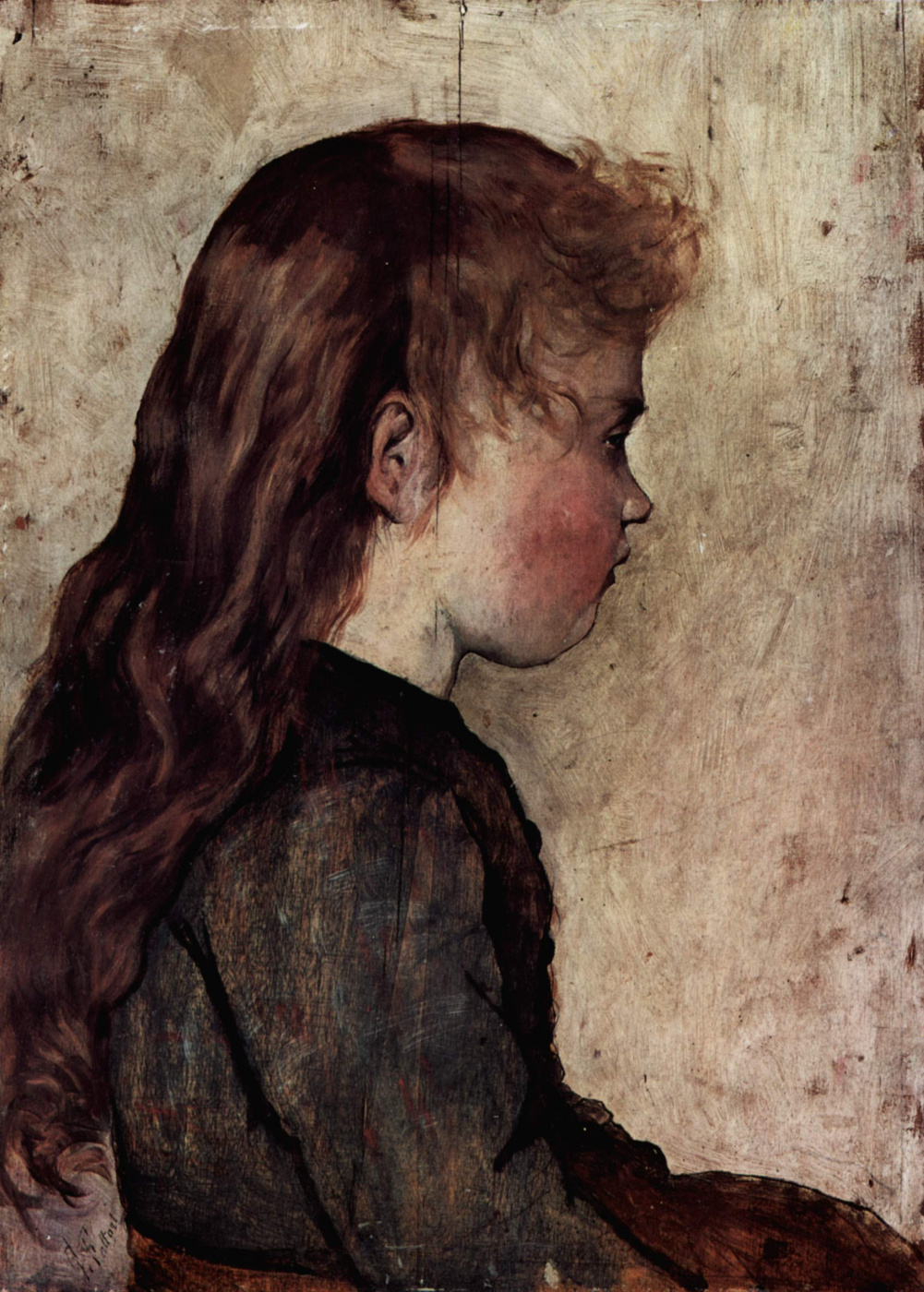 Giovanni Fattori. Portrait of young woman in profile