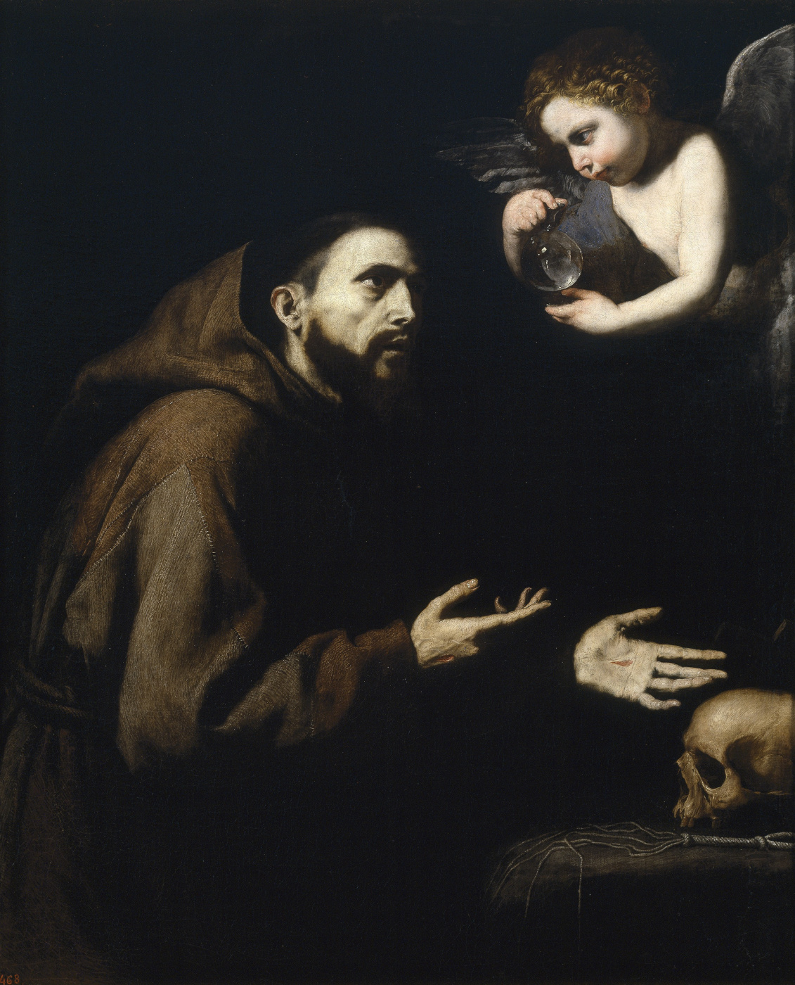Jose de Ribera. SV. Francis of Assisi and the angel with the water