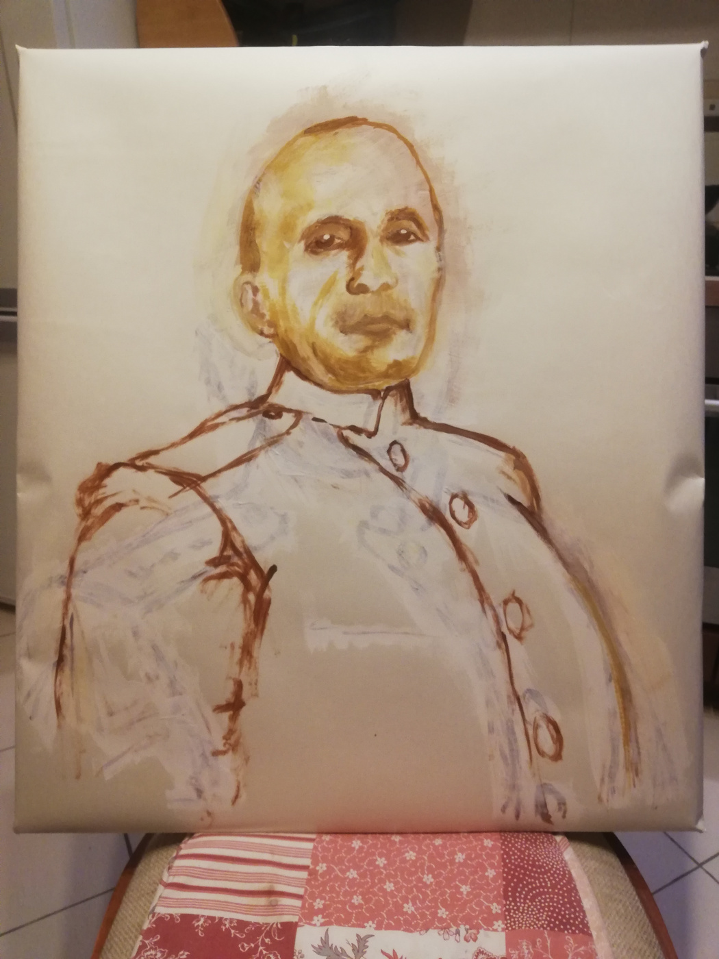 Andrew Markoff. Sketch for the portrait of the senior midshipman