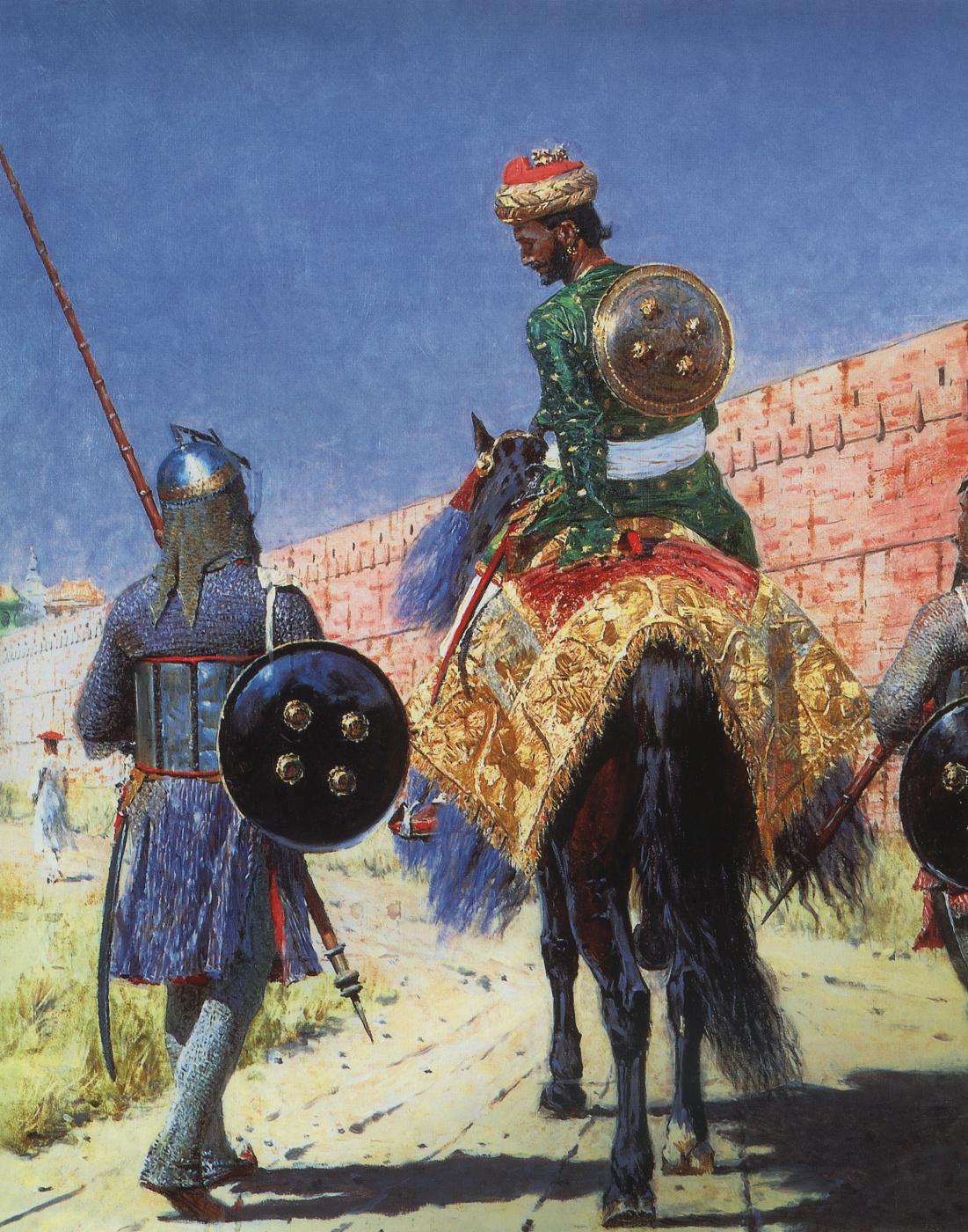 Vasily Vereshchagin. The rider is a warrior in Jaipur