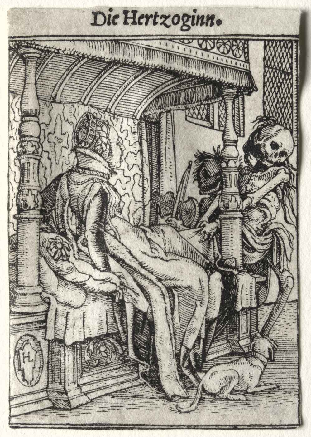 """Hans Holbein the Younger. Duchess. Series """"Dance of Death"""""""