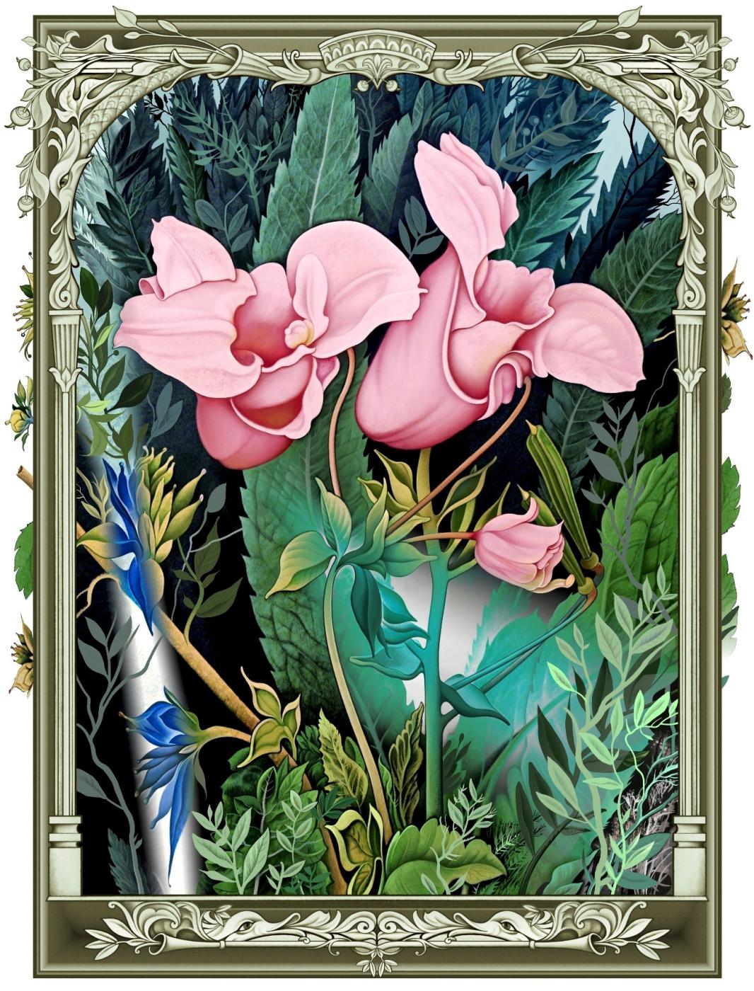 Konstantin Avdeev. Pink flowers
