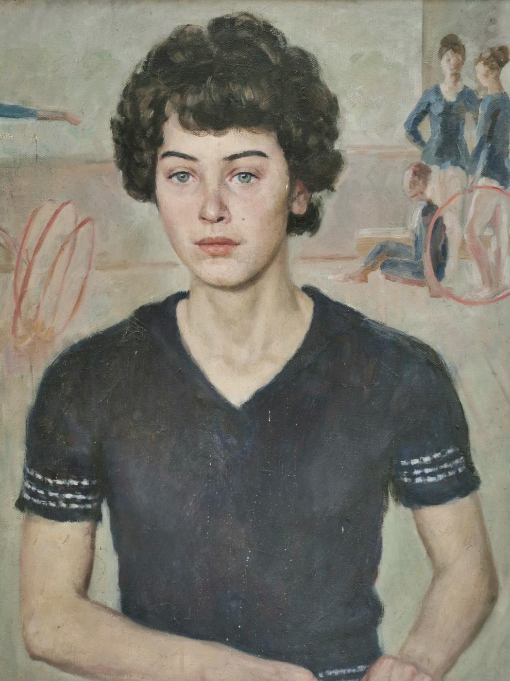 Inna Jalilovna Ismayilova (Ismailova). Portrait of a gymnast