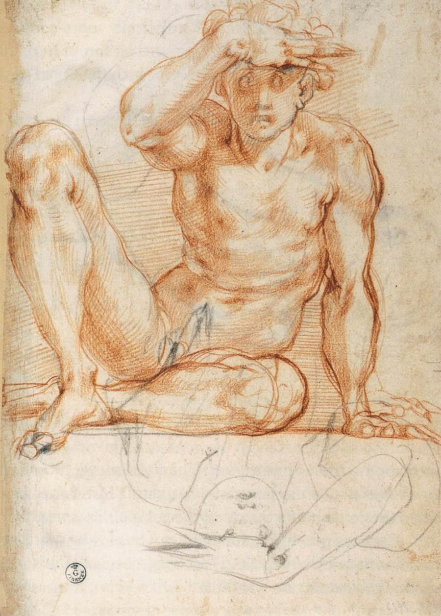 Jacopo Pontormo. Sketch of a male figure
