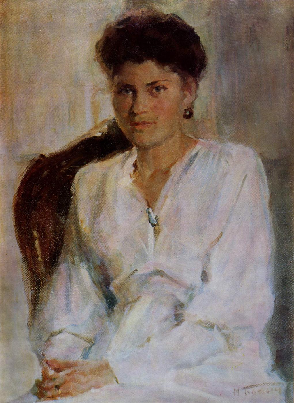 Михаил Михайлович Божий Украина 1911 - 1990. Женский портрет.