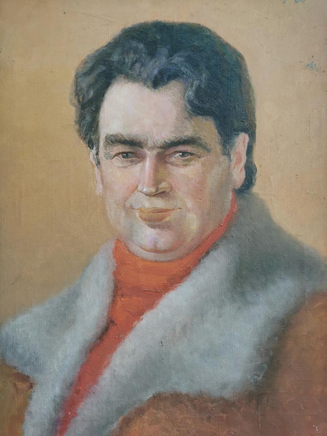 Karagodina N.B.. Portrait of the manager of the school No. 3 (Berngardovka) Mikhail Ivanovich