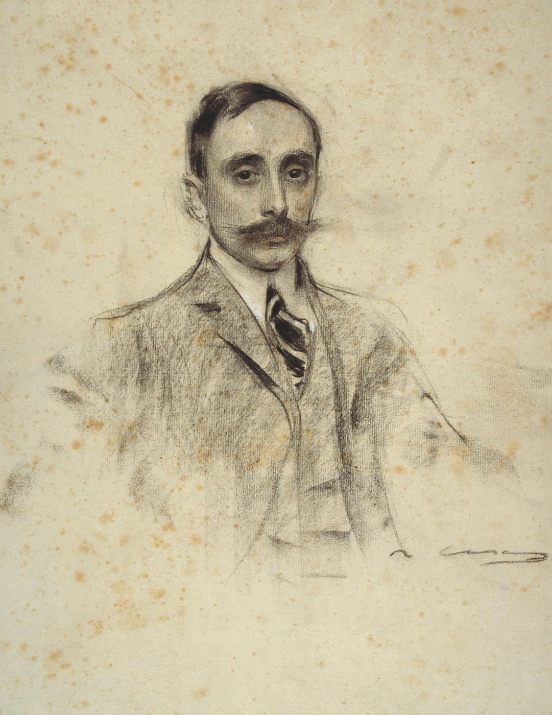 Ramon Casas i Carbó. Portrait of Juan Ventosa