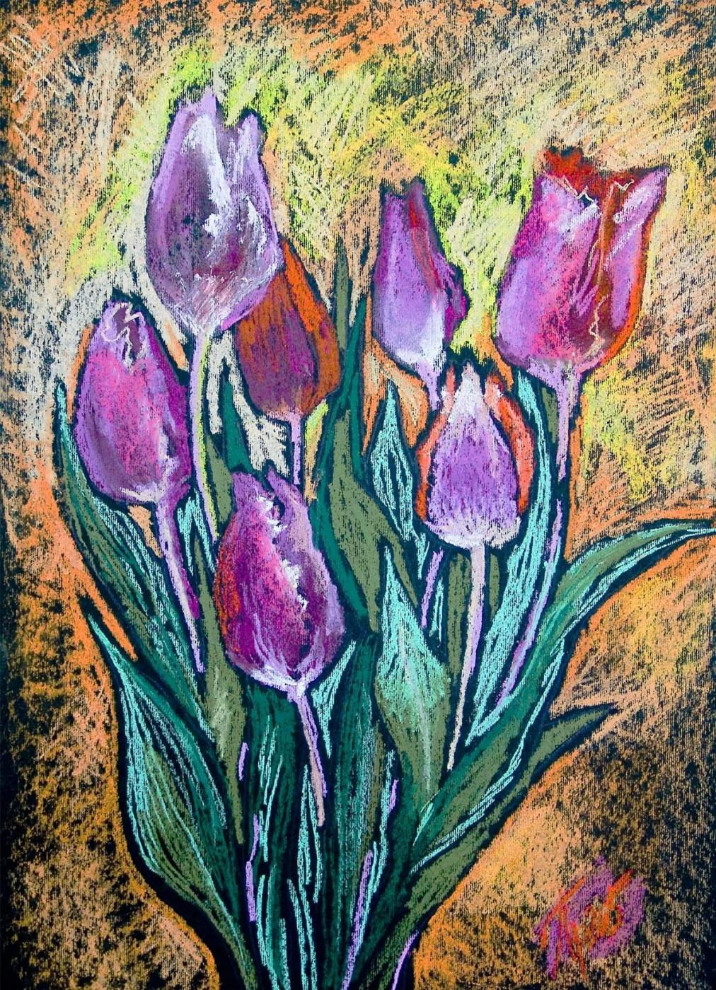 Elena Yulievna Privalova. Tulips