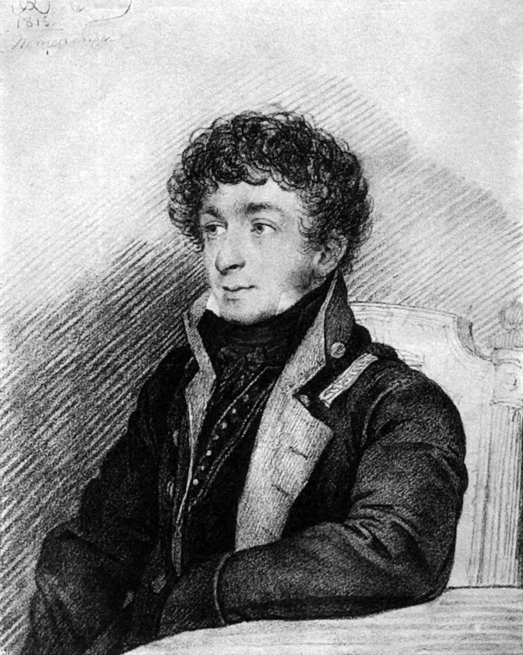 Orest Adamovich Kiprensky. Portrait of Konstantin Nikolaevich Batiushkov