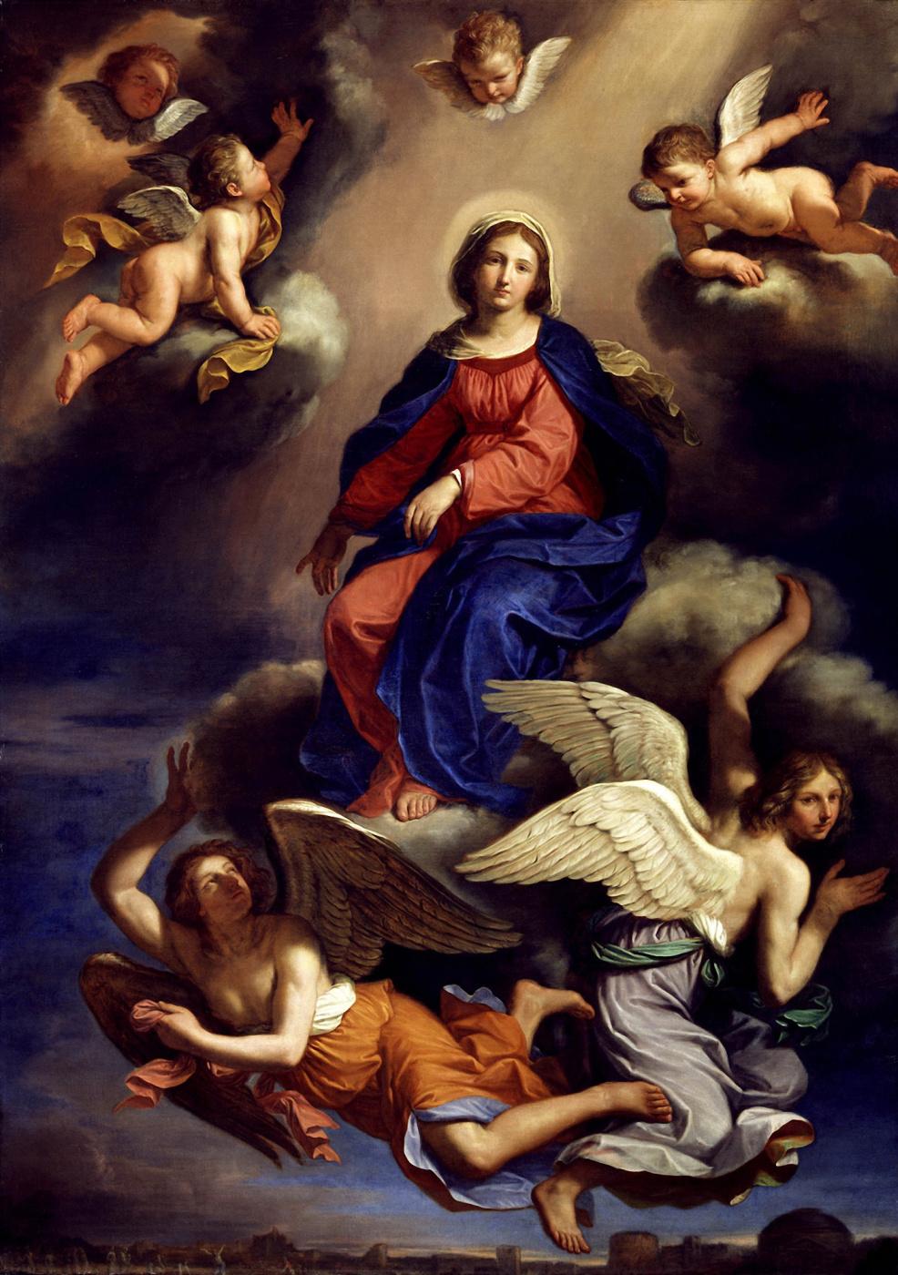 Giovanni Francesco Guercino. Assumption of the Virgin.