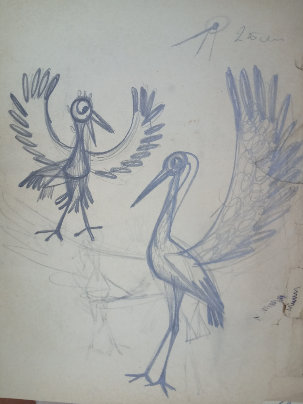 Sketches for puppet cartoons