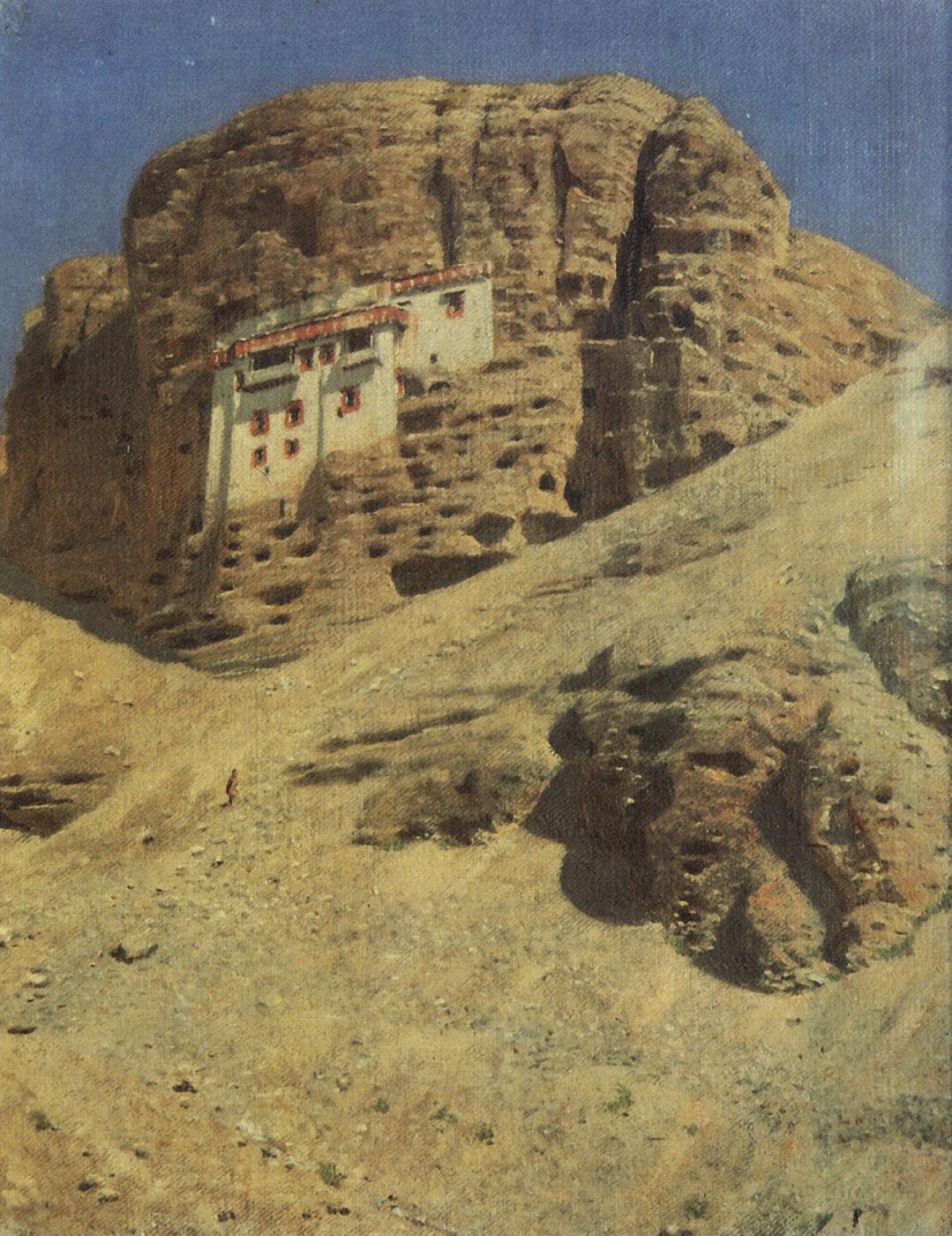 Vasily Vereshchagin. Monastery in a rock. Ladakh