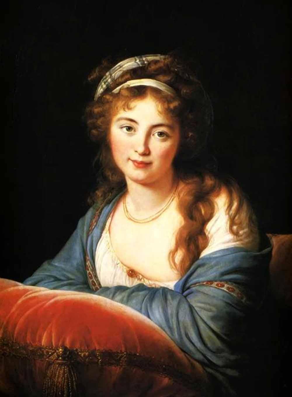 Elizabeth Vigee Le Brun. Portrait of Countess Catherine Skavronskaya