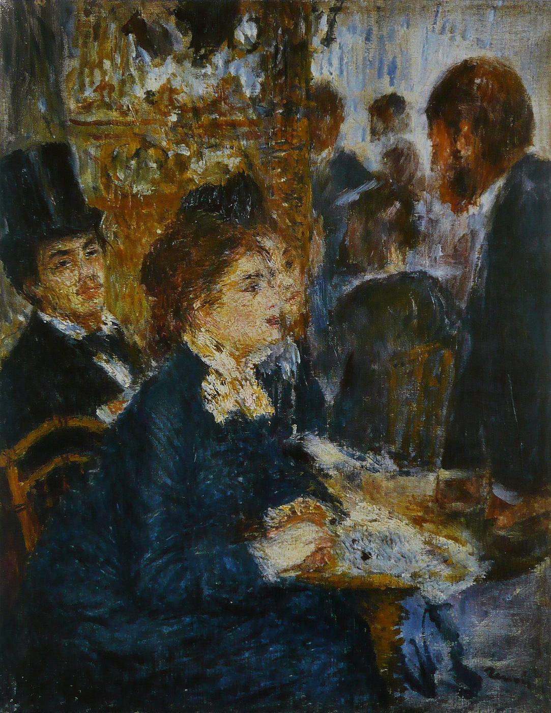 Pierre-Auguste Renoir. In a cafe