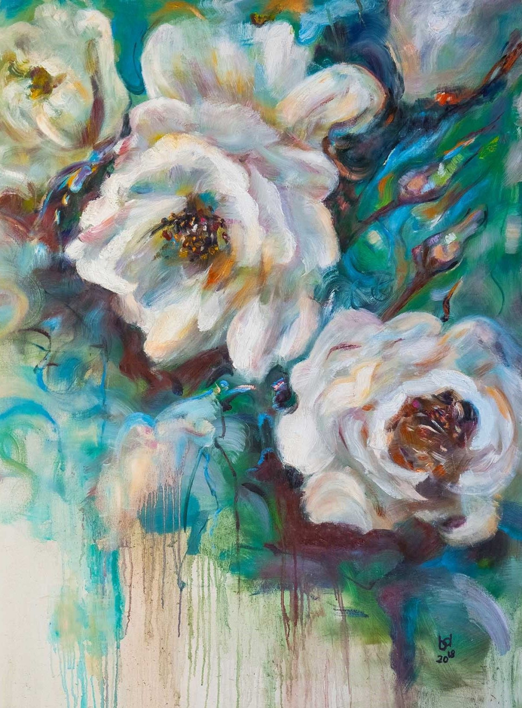 """Brian dupre. White Rosehip, """"In the Blooming Garden"""" series """""""