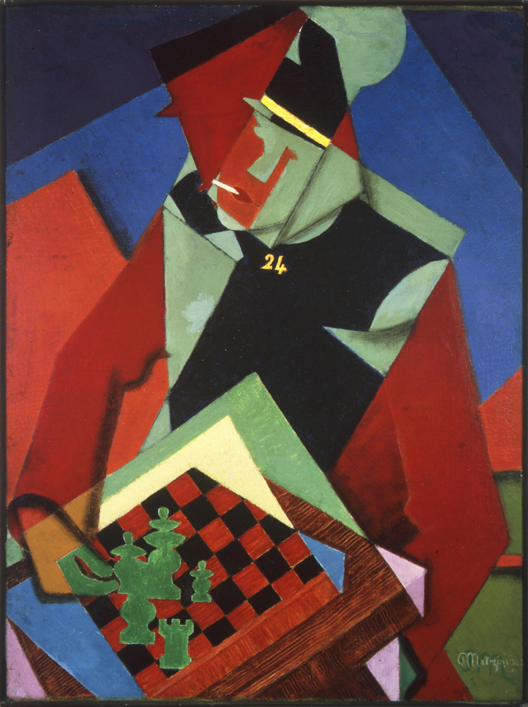 Jean Metzinger. Soldiers playing chess