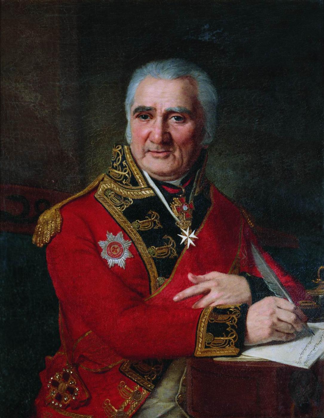 Vladimir Borovikovsky. Portrait of Sergey Lazarevich Lashkarev