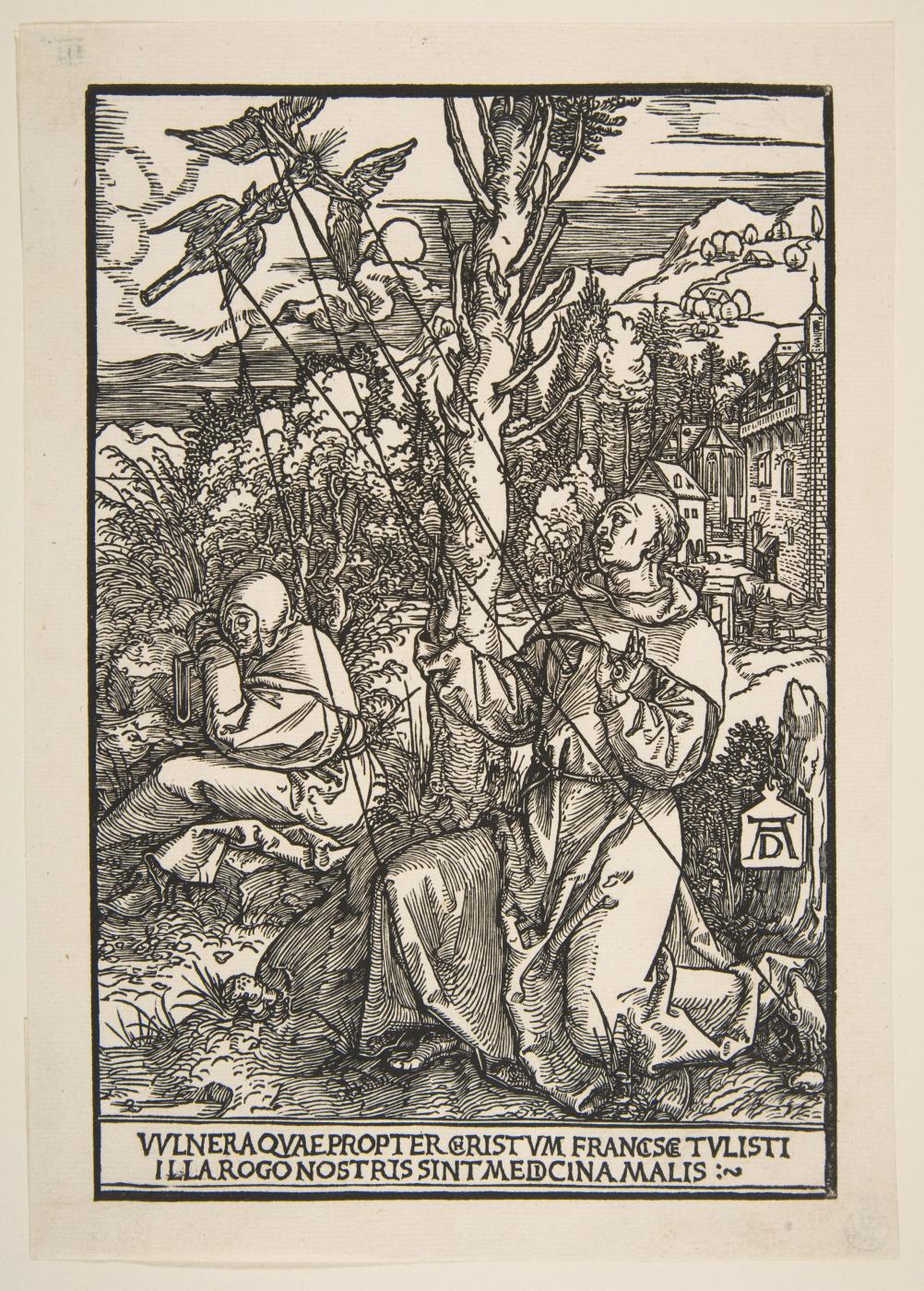 Albrecht Dürer. St. Francis receiving the stigmata