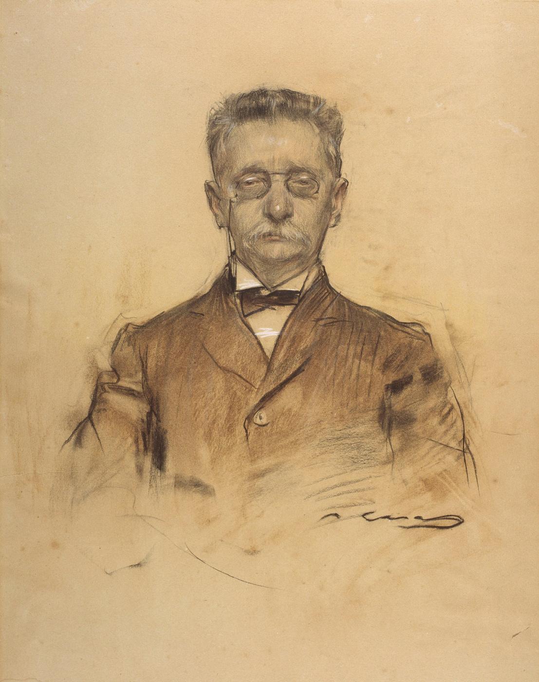 Ramon Casas i Carbó. Portrait of Lewis Domencha Montaner