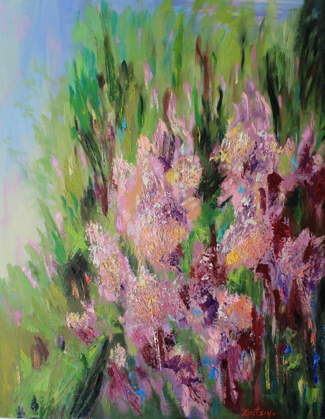 Tanusha Zaitseva. Lilac bush