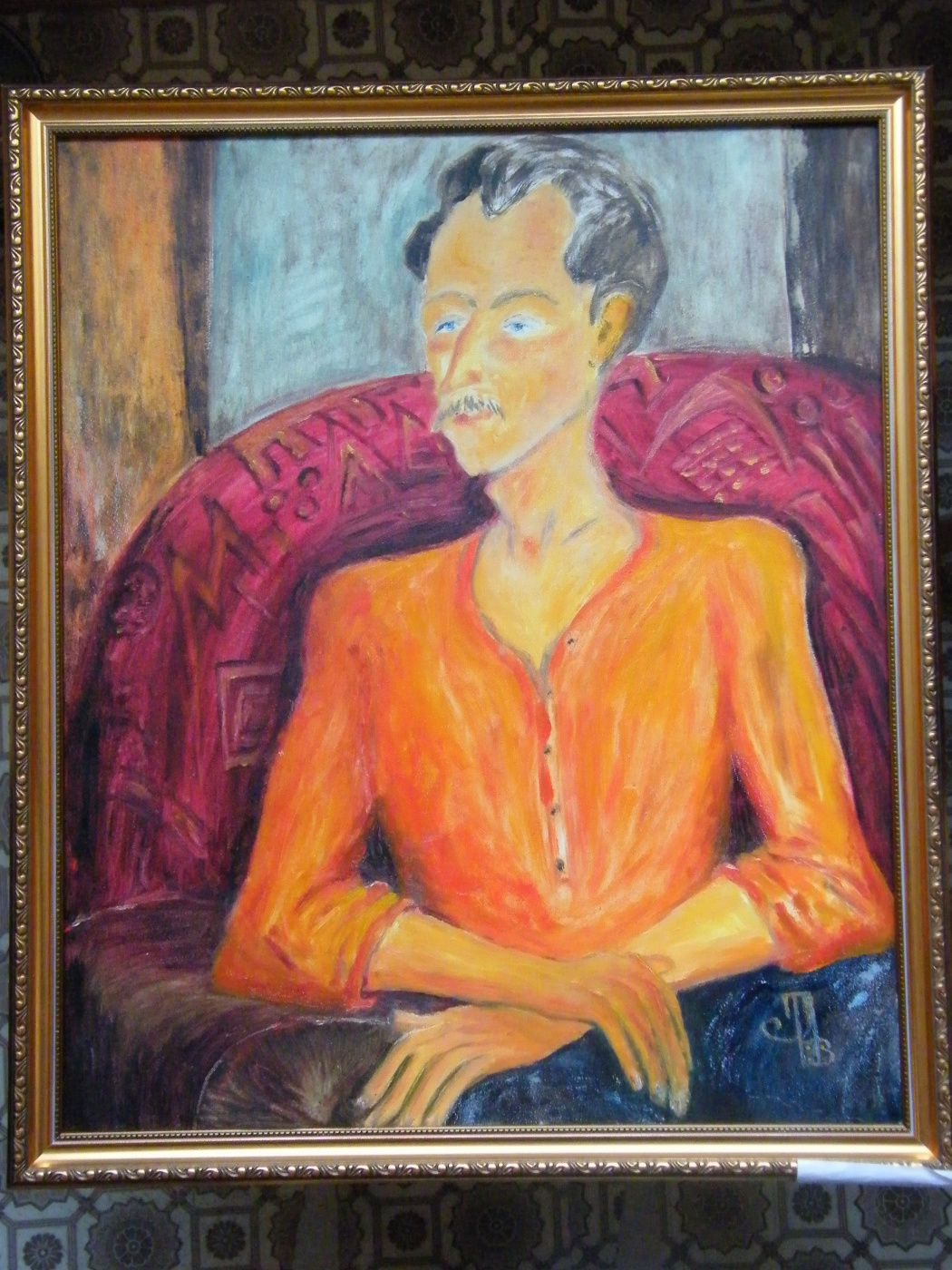 Tamara Lagunova. Orange portrait