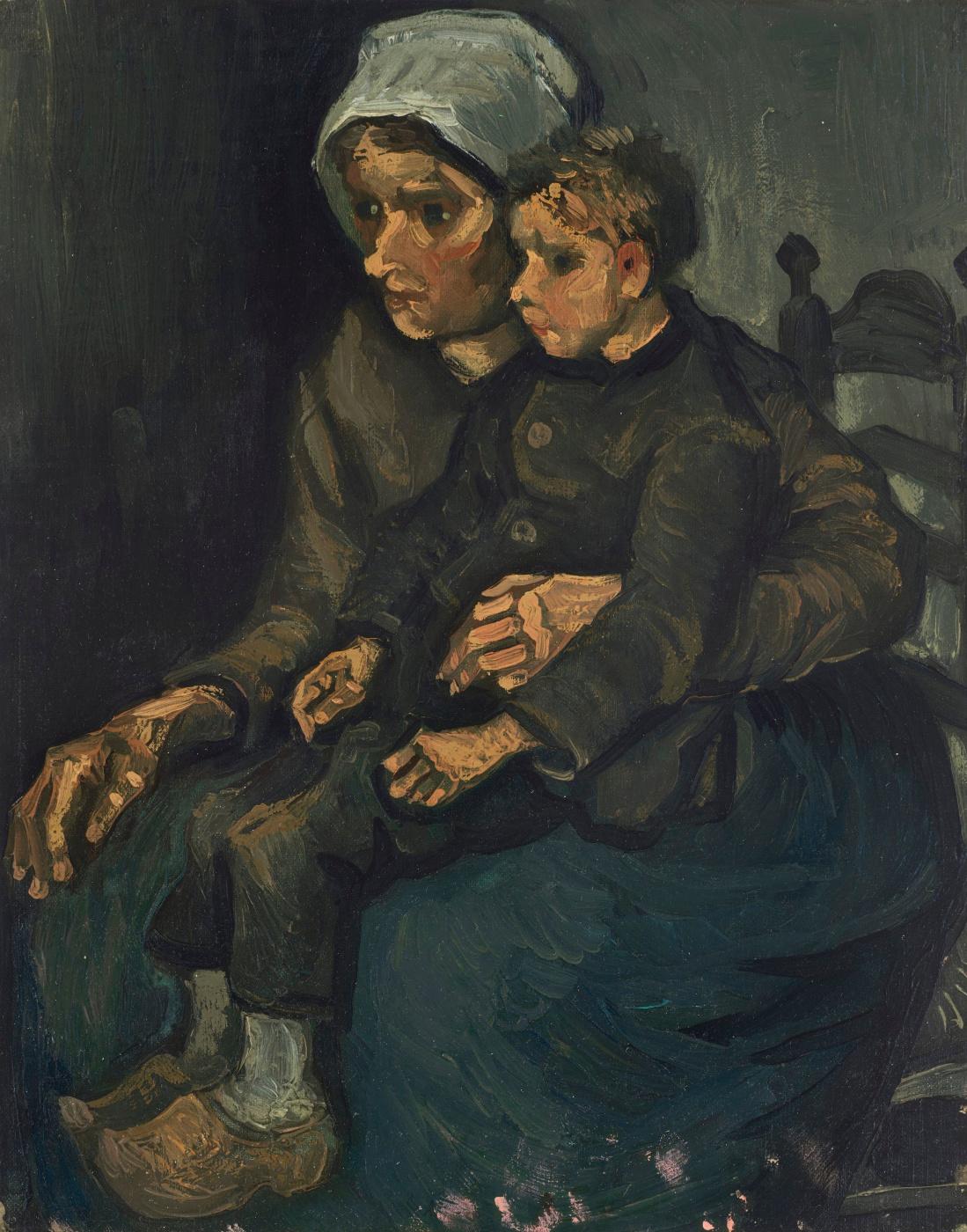 Винсент Ван Гог. Крестьянка с ребёнком на коленях