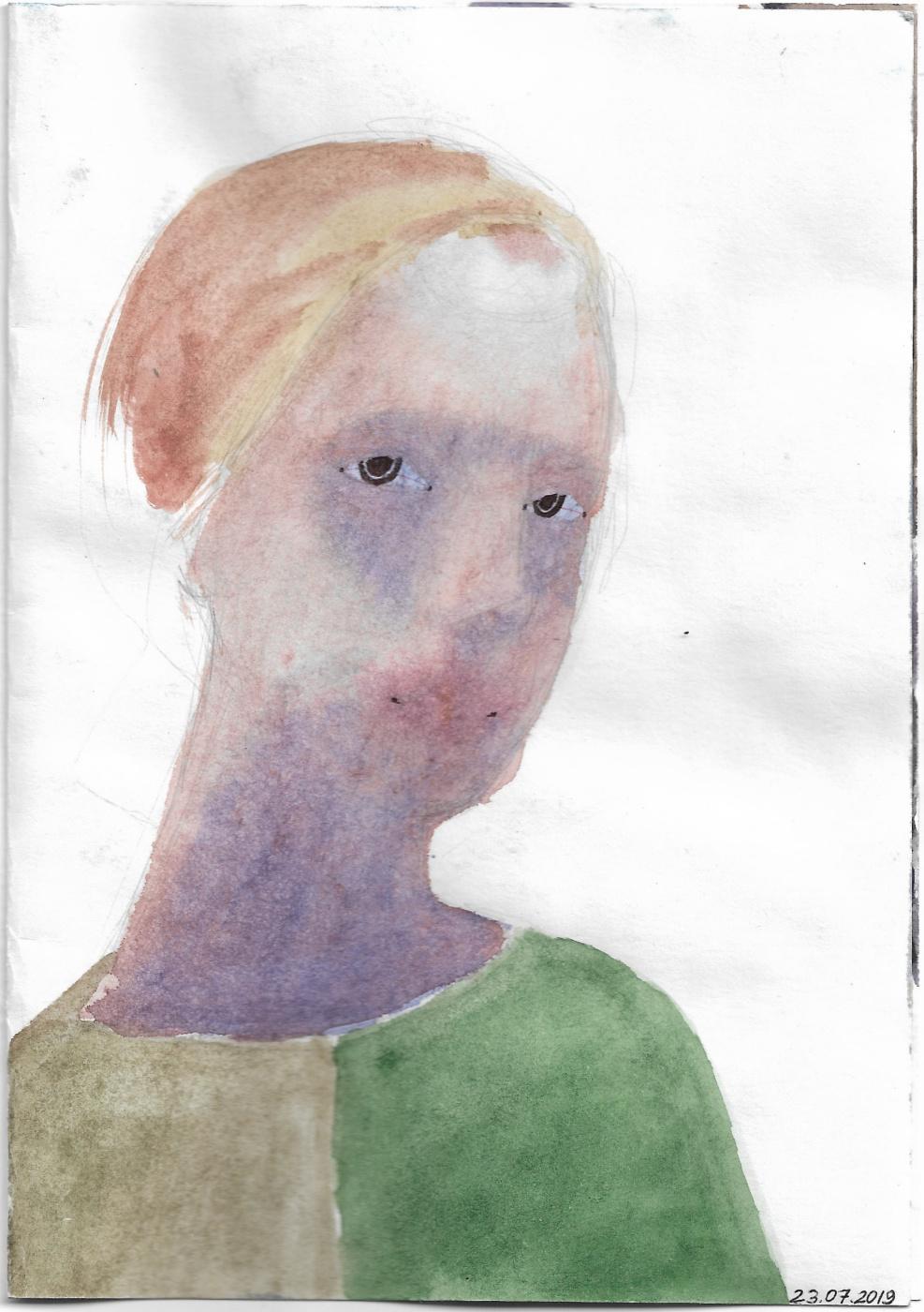 Александра Котвицкая. Дурашливый автопортрет с изящными капиллярами на белках
