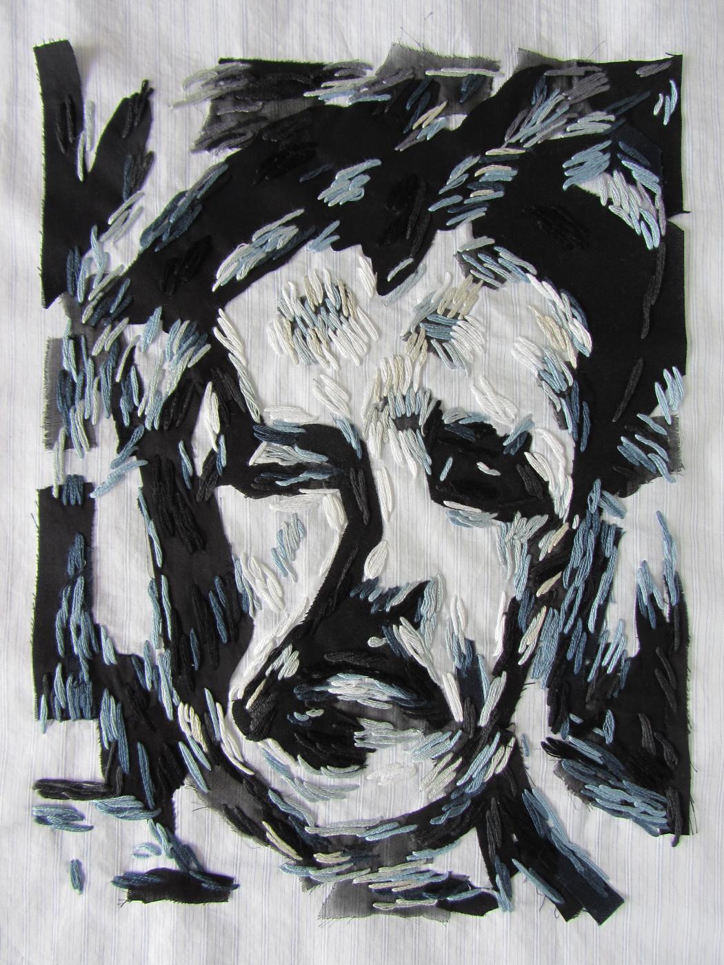 Franz Klein. Self portrait. Copy of the picture