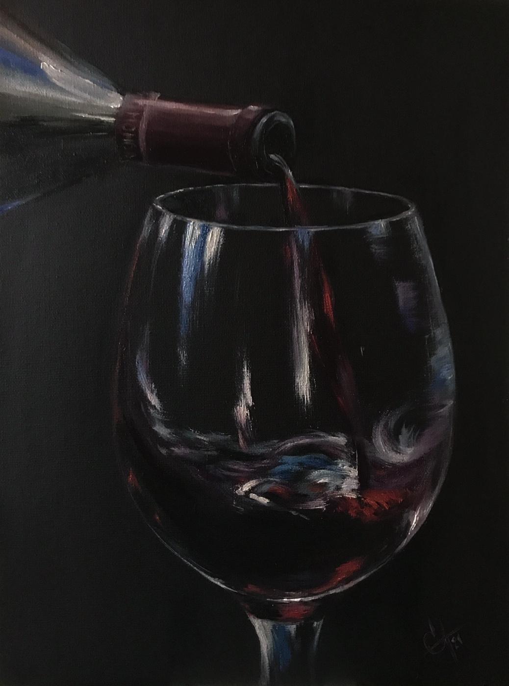 Svetlana Arkhipova. Glass of Bordeaux
