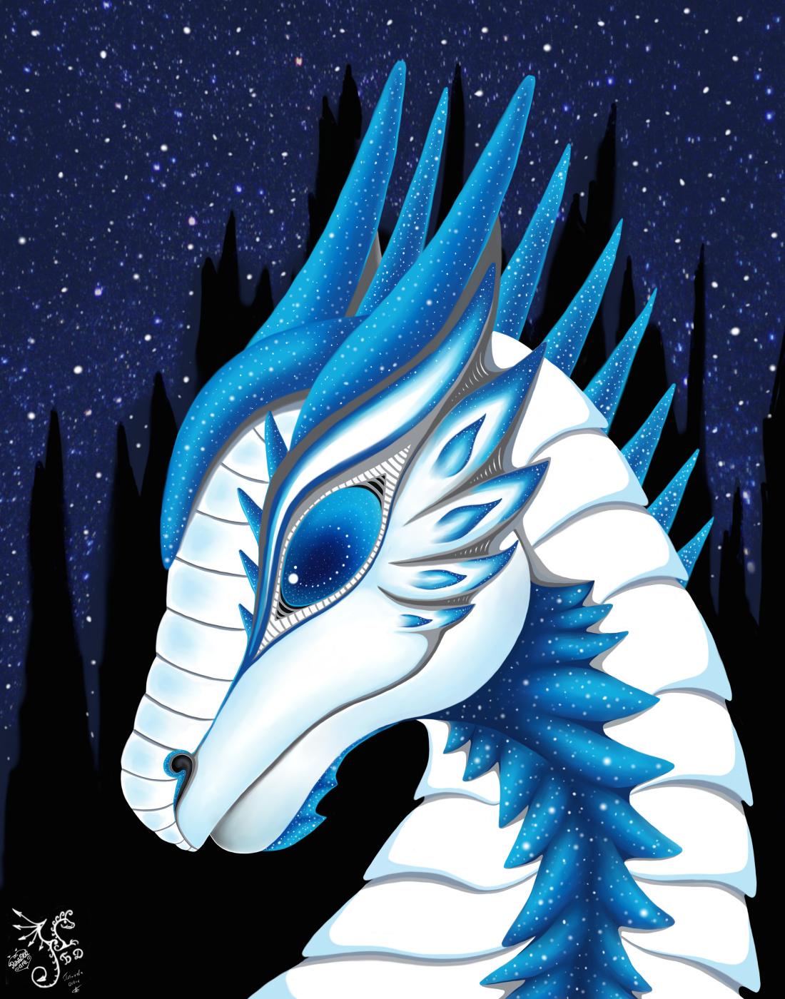 Olga Vasilievna Potapova. Dragonwoman - White Starry Night