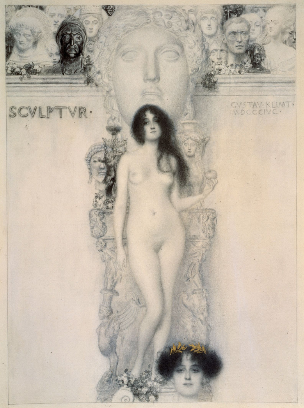 Gustav Klimt. Allegory of sculpture II