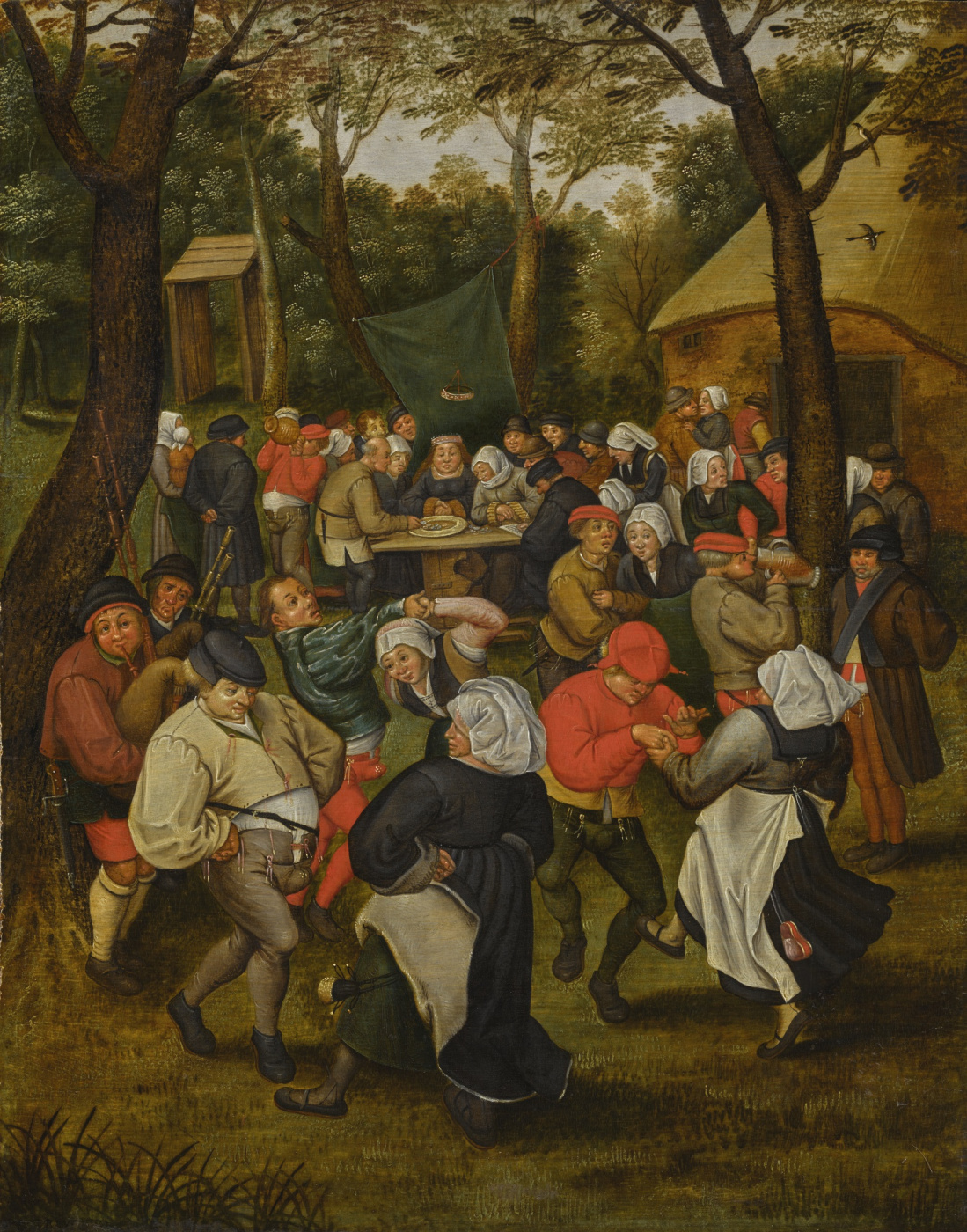 Peter Brueghel the Younger. Wedding dancing on the nature