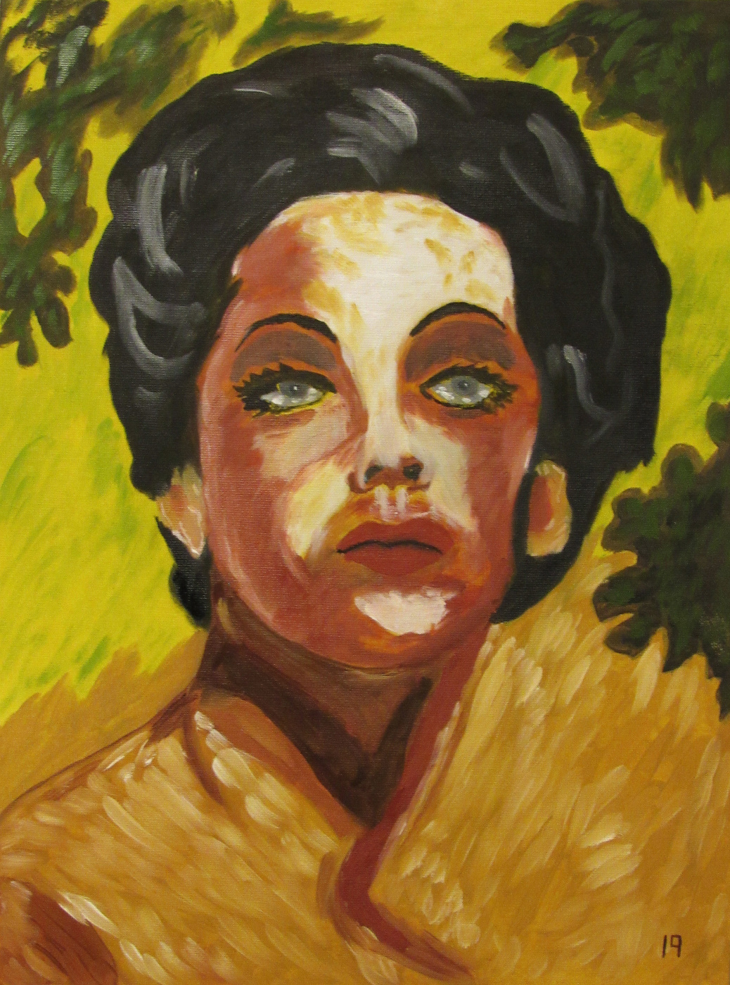 Artashes Vladimirovich Badalyan. Picabia Portrait of Dorothy B. (copy) - x-map. - 40x30