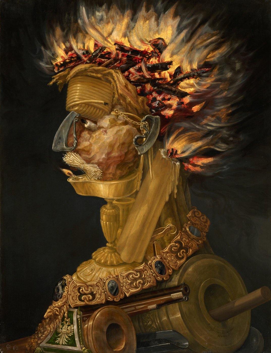 Giuseppe Arcimboldo. Four elements. Fire