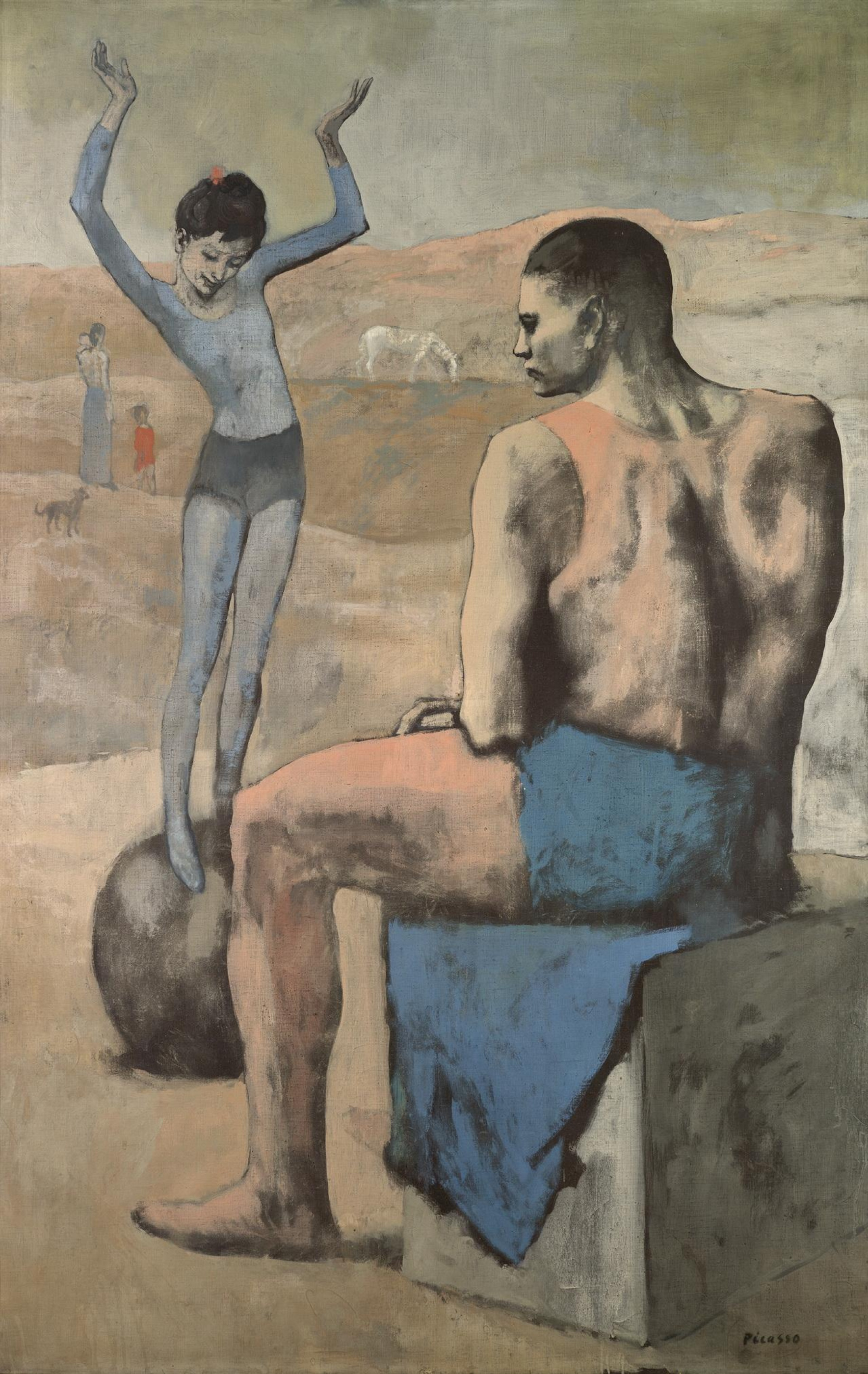 Pablo Picasso. Girl on the Ball