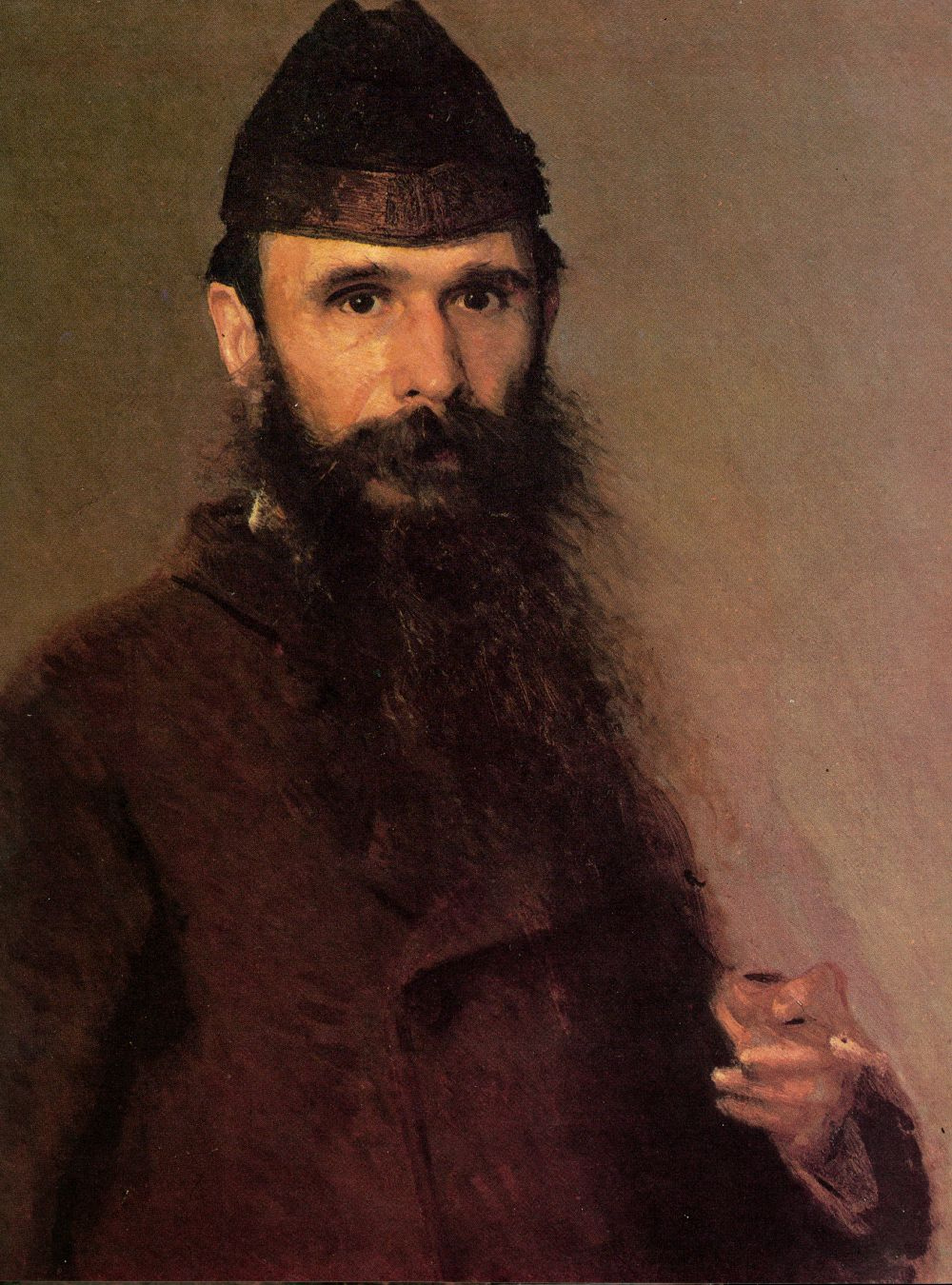 Ivan Nikolayevich Kramskoy. Portrait of the artist Alexander Dmitrievich Litovchenko. Fragment