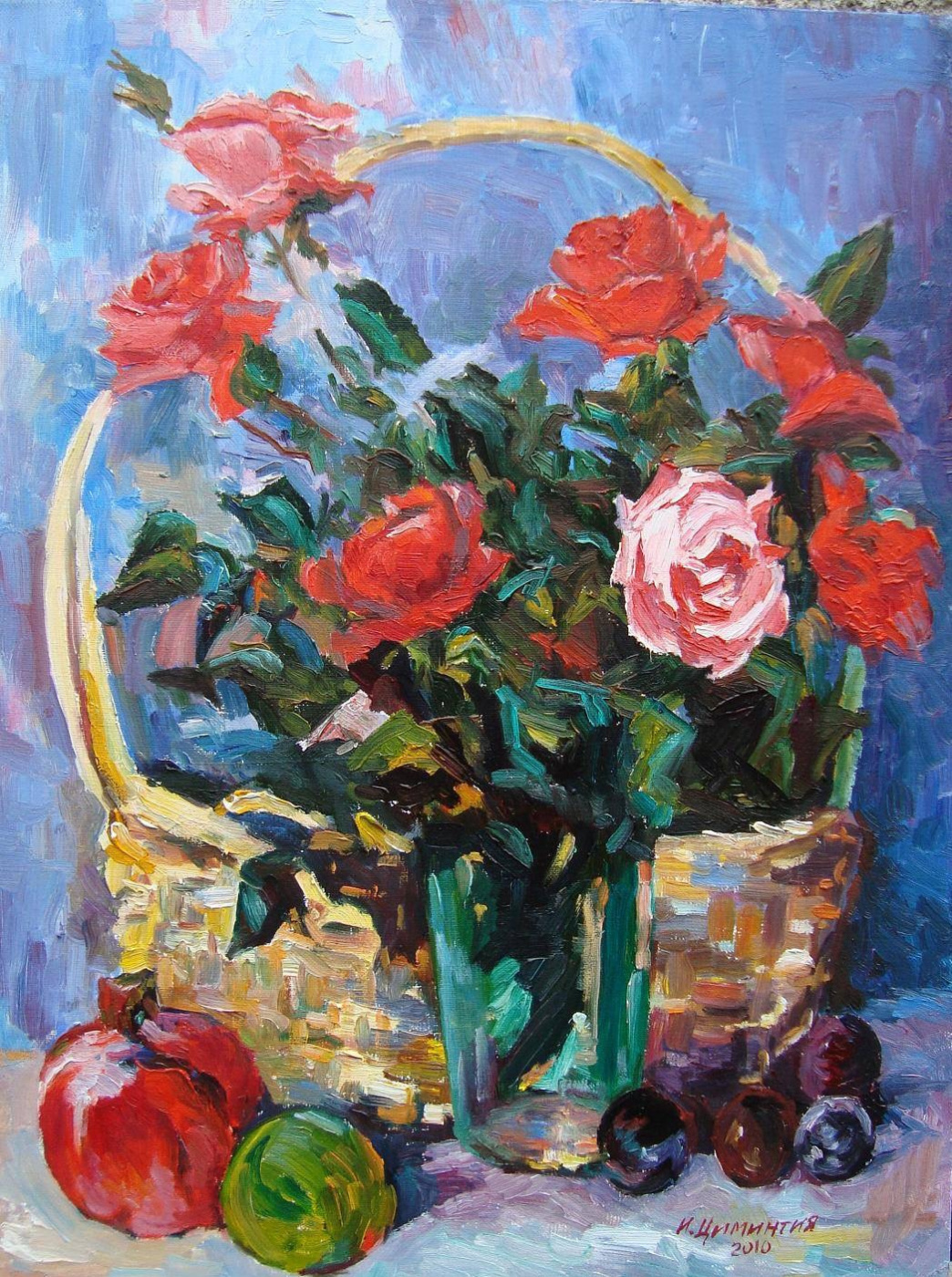 Miki Miks. Roses in the basket