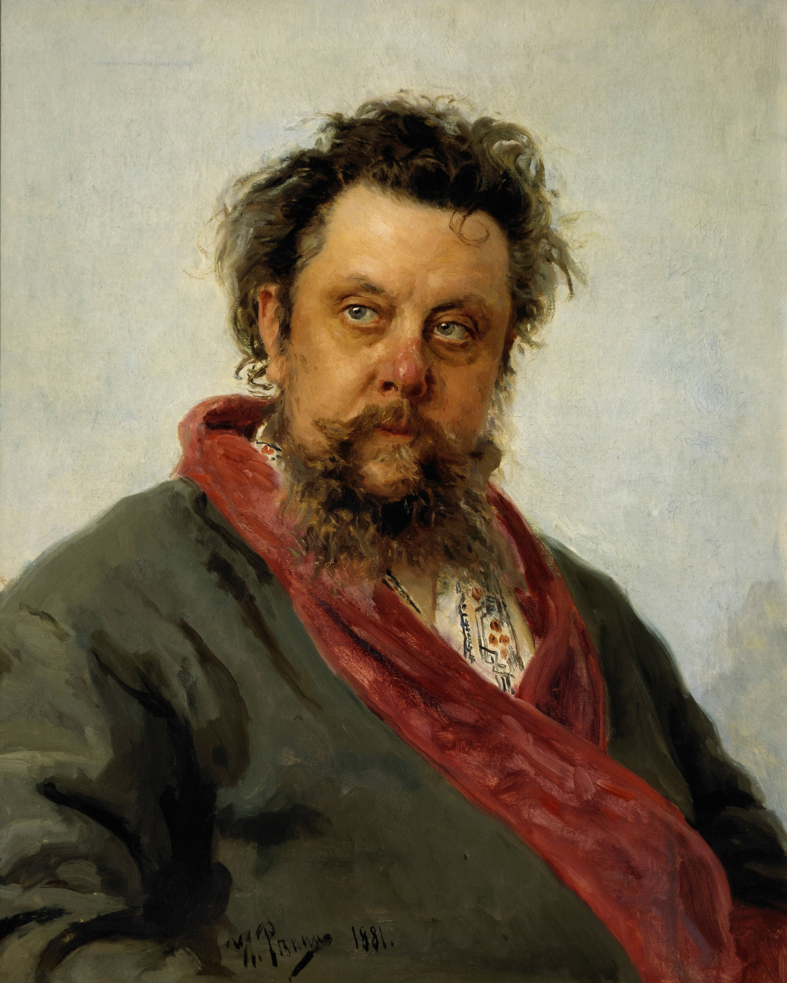 Ilya Efimovich Repin. Portrait of the composer M. P. Mussorgsky