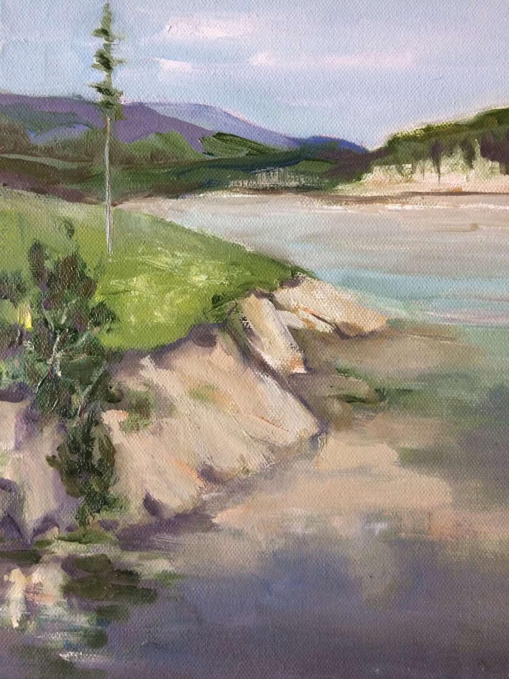 Edward Rudolfovich Votyakov. River in the mountains (from the series My Ural)