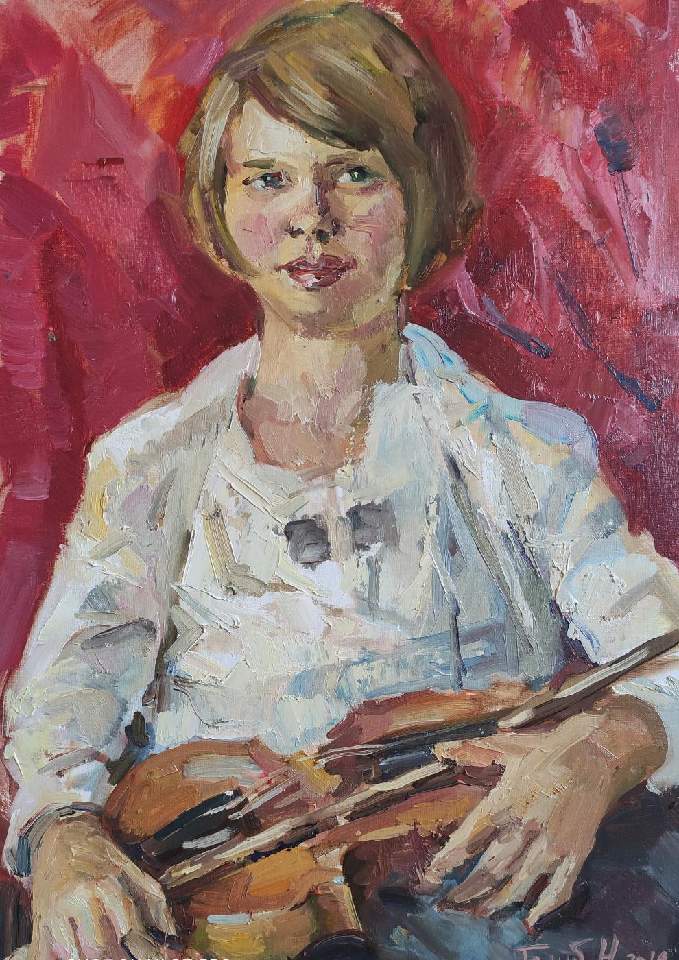 "Nika Golub. ""Girl with a violin"" / ""Girl with a violin"""