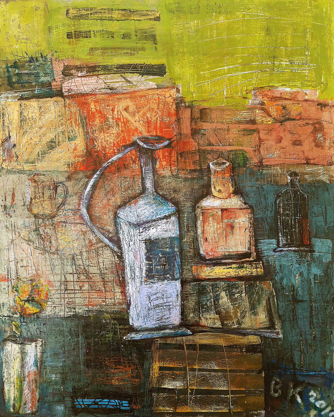 Vladimir Evgen'evich Koreshkov. Beautiful still life. Post-abstractionism
