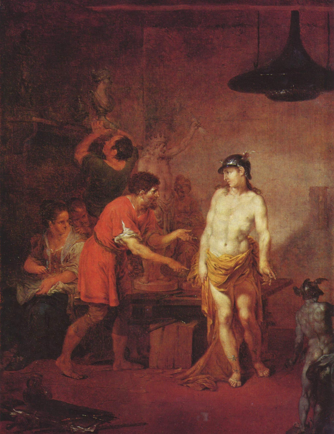 Januarius Cyc. Mercury in the workshop of the sculptor
