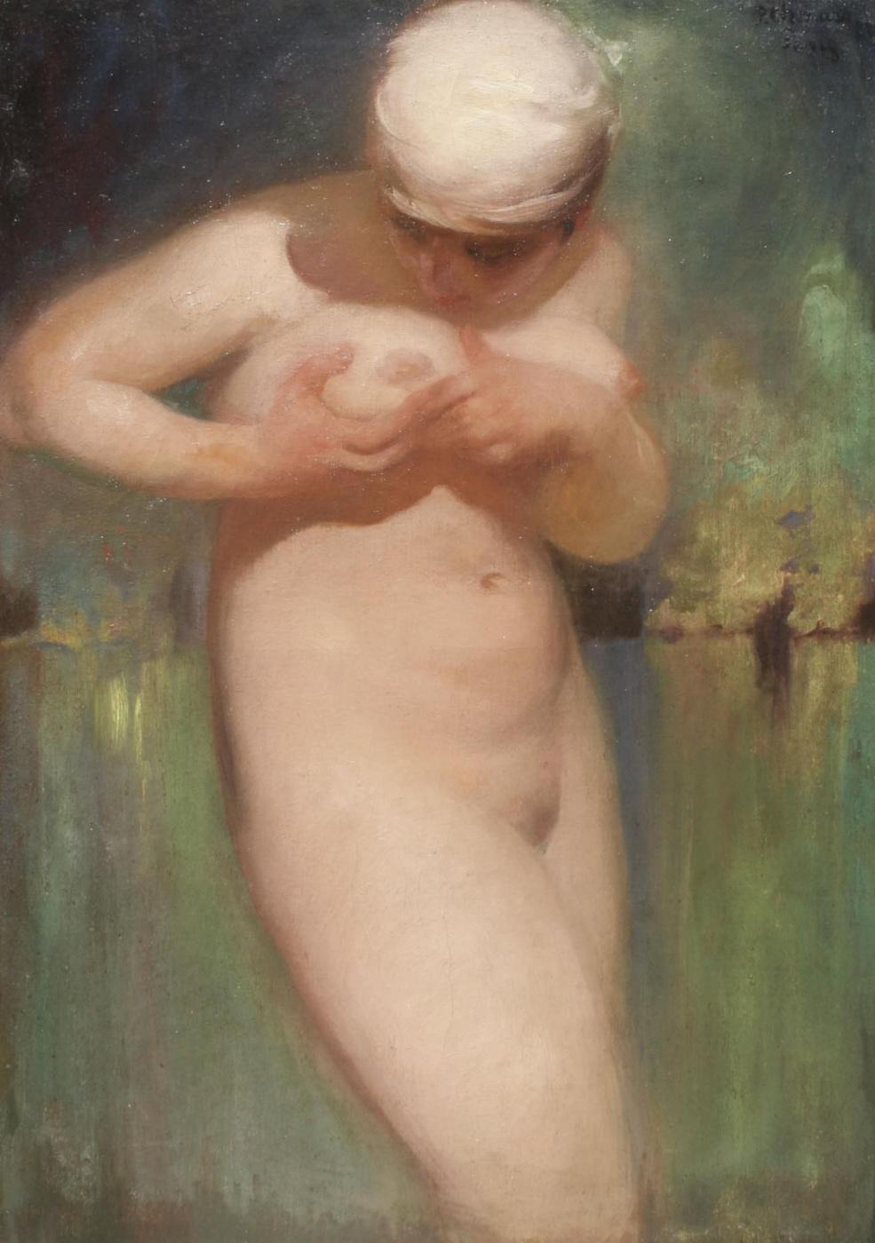 Pavel Dmitrievich Shmarov Russia - France 1874 - 1950. Bather. 1928