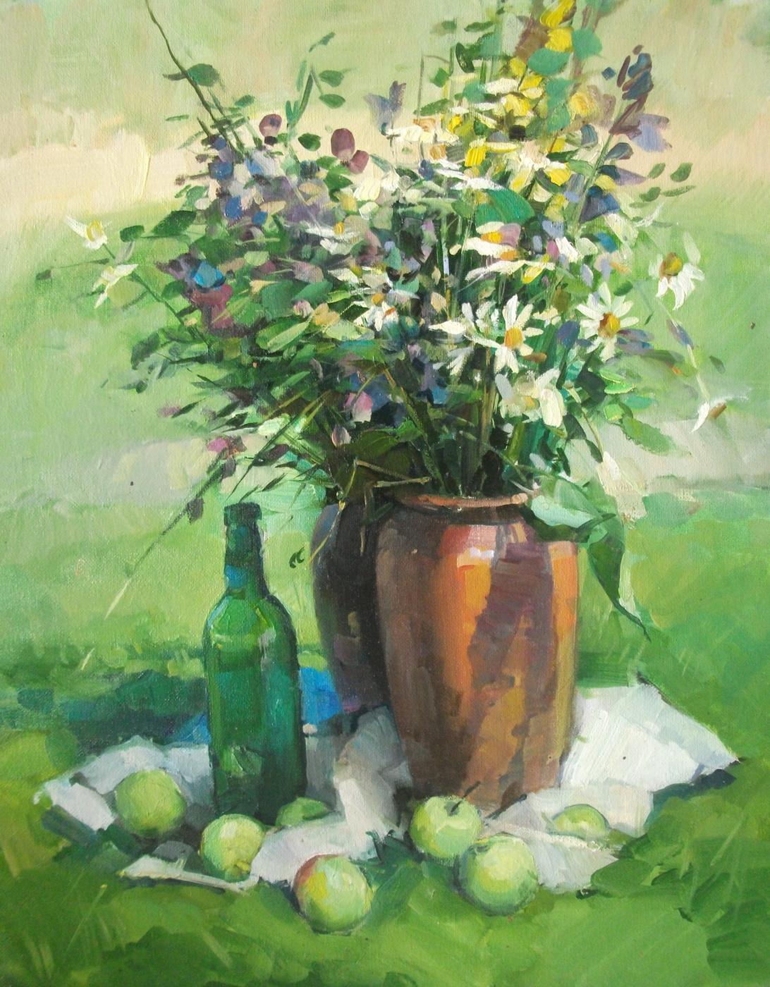 Sergey Anatolevich Bondaryuk. Study with daisies